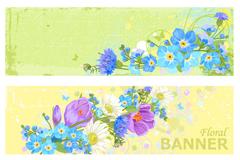 复古花卉banner设计矢量素材