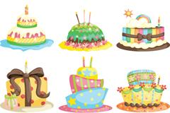 卡通生日蛋糕矢量素材